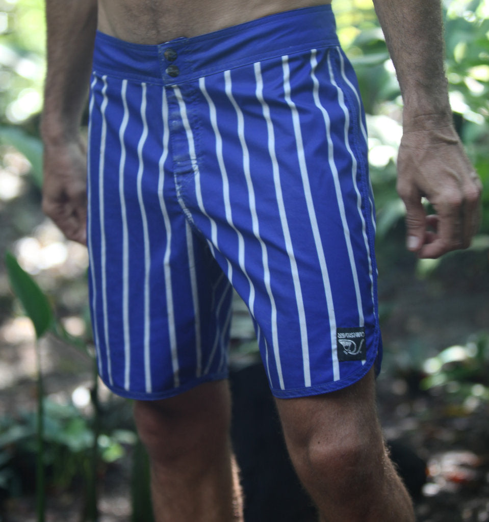 Standard / Quiksilver World Force OG Scallop Blue and White Boardshorts
