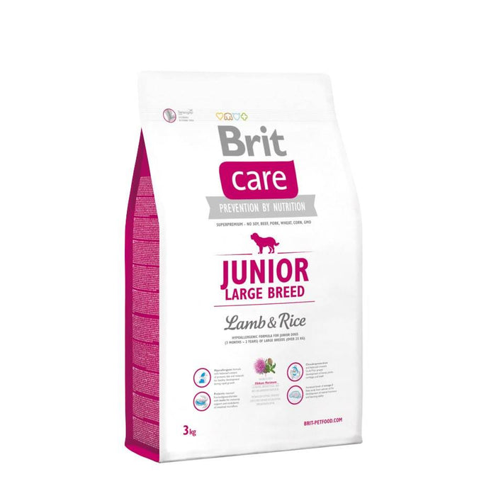 Brit Care Junior Large Breed Cordero - Clínica Veterinaria Chicureo