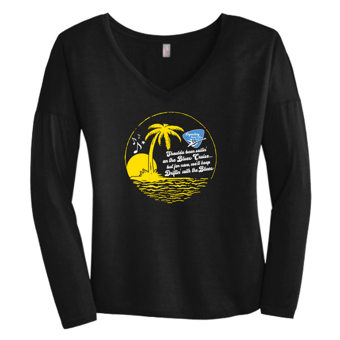 """Driftin' with the Blues"" Women's Long Sleeve"