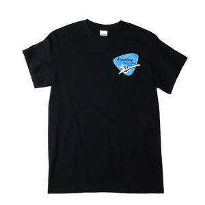 Black t-shirt with Rhythm and Blues Cruise logo.