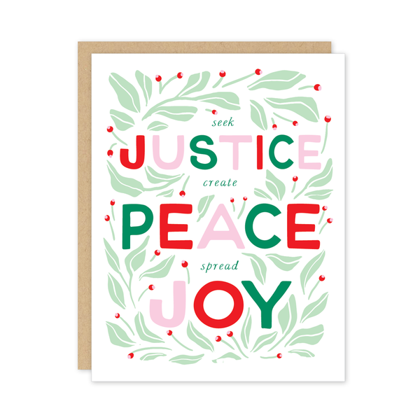 Justice Christmas Card