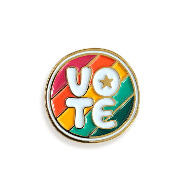 VOTE Enamel Pin