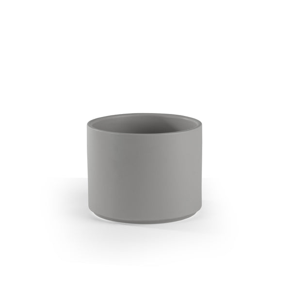 Gray Cylinder Planter