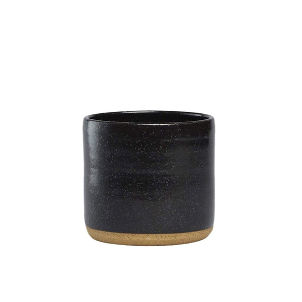 Black Handmade Speckled Planter