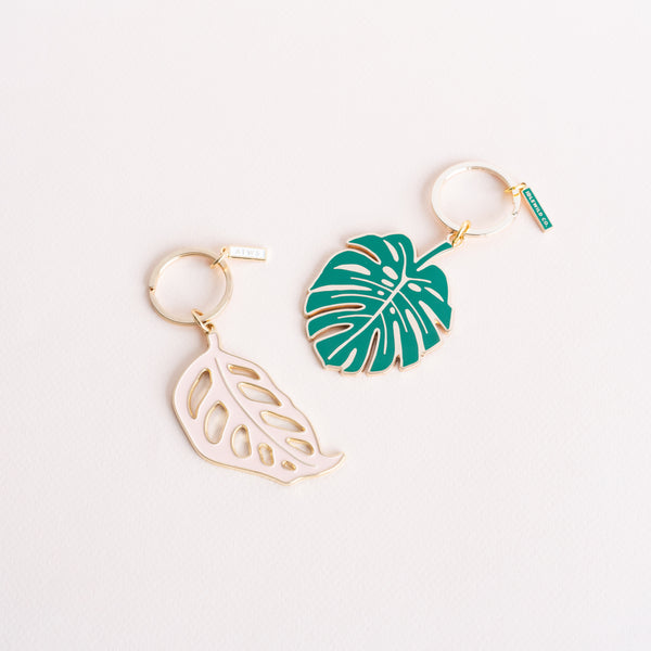 Monstera Leaf Keychains