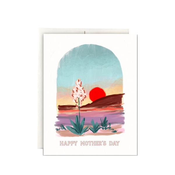 Desert Sunset Mother's Day Card