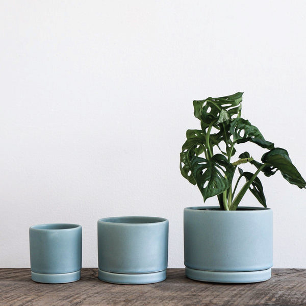 Blue Handmade Ceramic Planter
