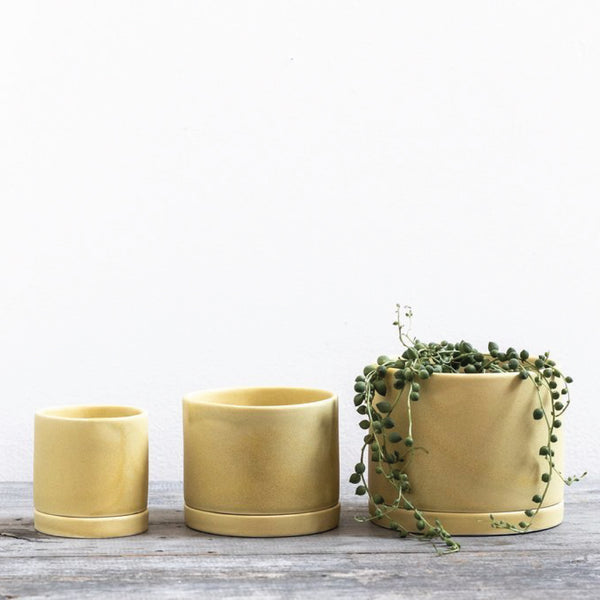 Yellow Handmade Ceramic Planter