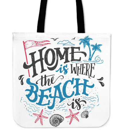 Home Beach Tote Bag