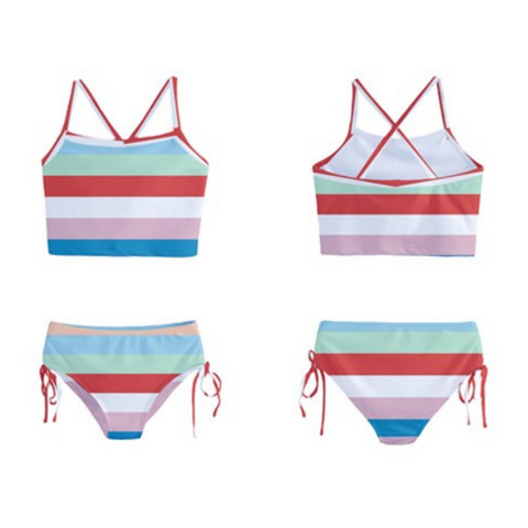 Boardwalk Stripe Tankini - Sassy Bassett Designs