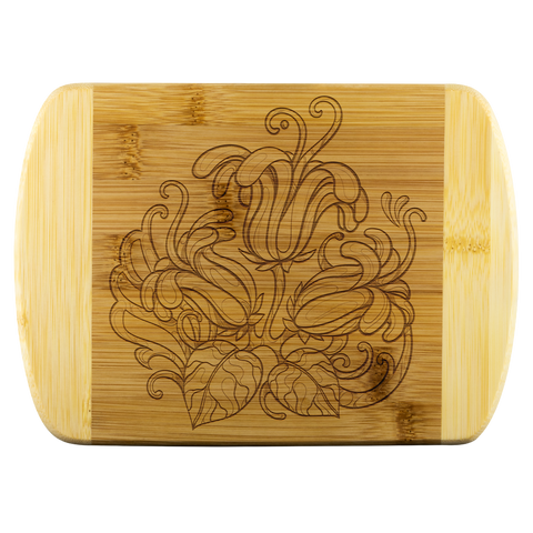 Floral Cutting Board - Sassy Bassett Designs