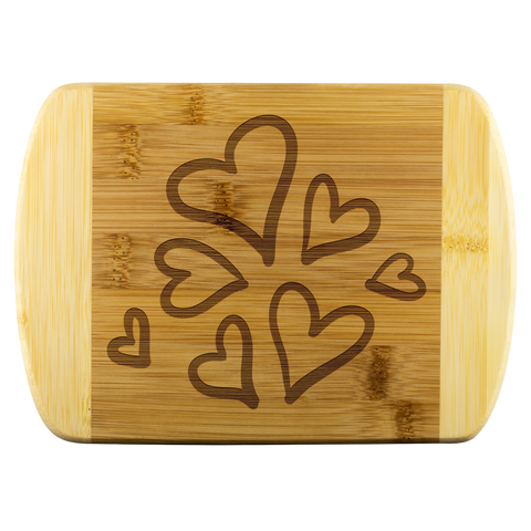 Hearts Cutting Board - Sassy Bassett Designs
