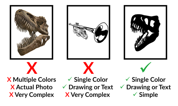 Acceptable types of artwork for custom decals