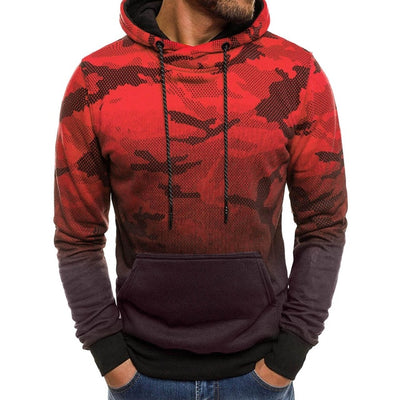 Camo Ombre Hoodie - Gym Music