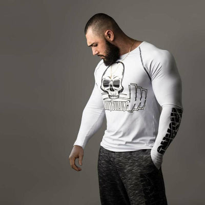 Bodybuilding Long Sleeve T-shirt - Gym Music