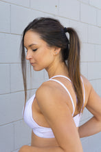 Load image into Gallery viewer, WHITE STRING SPORTS BRA