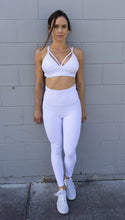 Load image into Gallery viewer, GEOMETRIC WHITE LEGGINGS