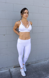 GEOMETRIC WHITE LEGGINGS
