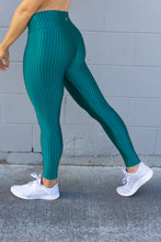 Load image into Gallery viewer, GLOSSY EMERALD GREEN LEGGINGS