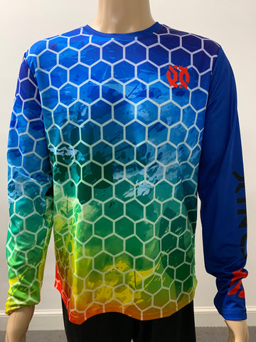 Purely Pickleball- Rainbow Onix Long Sleeve- Men