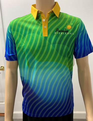 Purely Pickleball Polo-Men