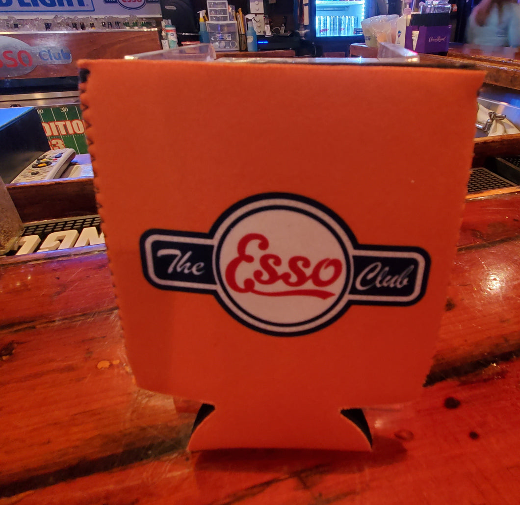 The Esso Club Orange Koozie