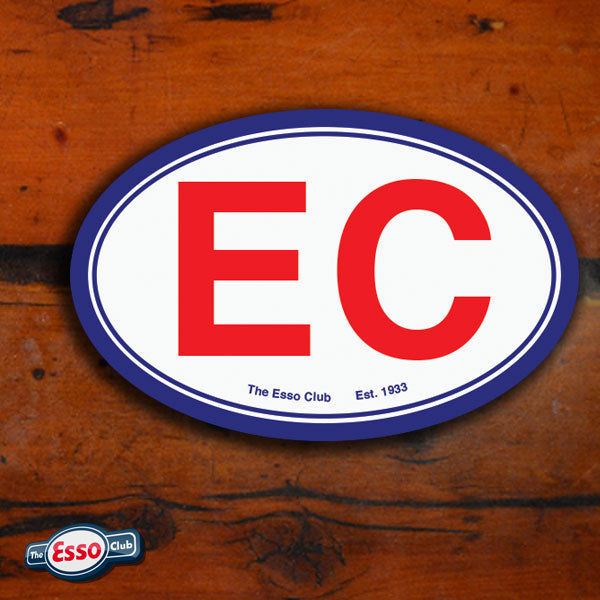 The Esso Club Bumper Decal