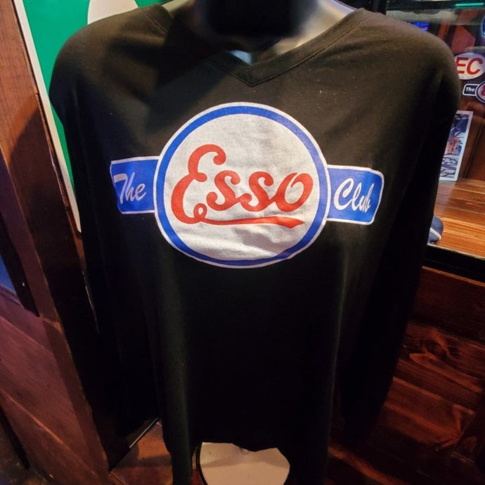 Black Esso Logo Shirt- Women's Short Sleeve, Long Sleeve or Tank Top