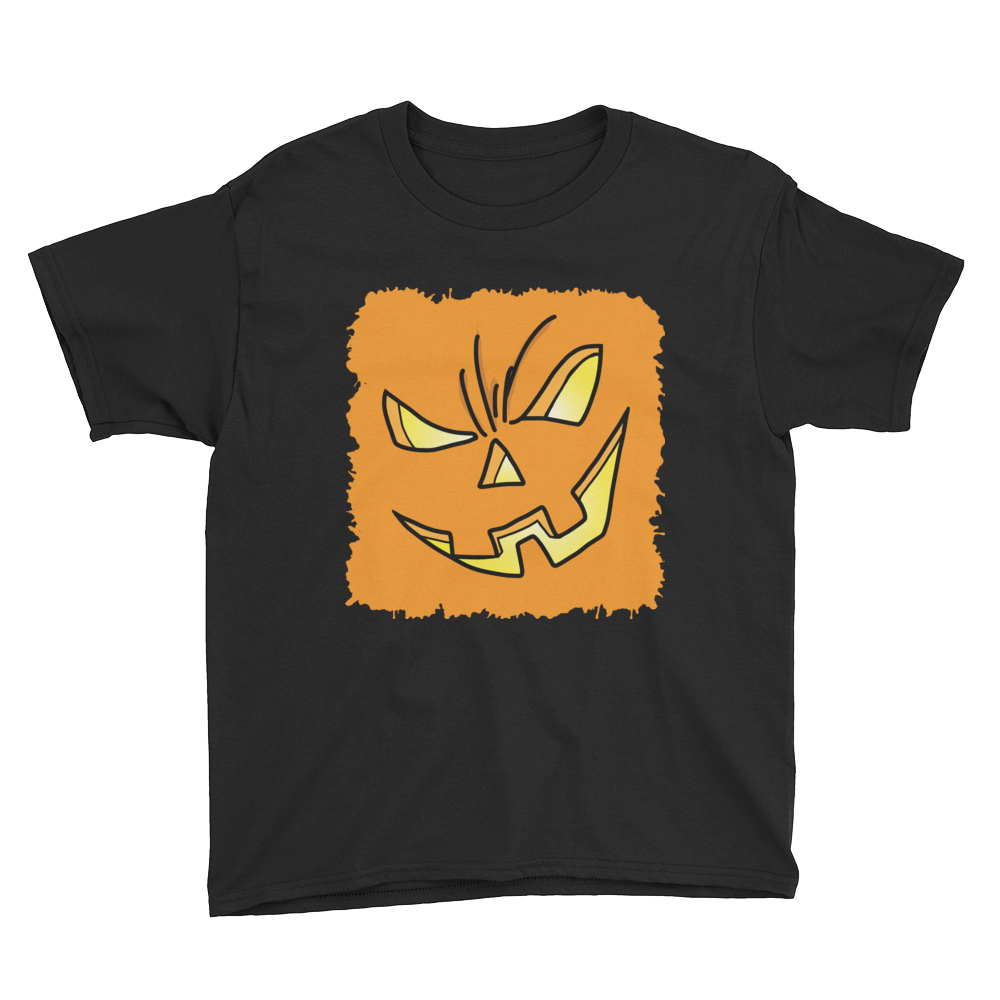 Orange Pumpkin Splatter - Youth T-Shirt