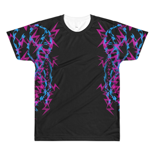 Pink and Blue Electrix - All-Over Printed T-Shirt