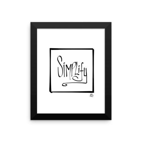 SIMPLIFY - Framed photo paper poster