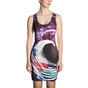 Space Vortex - All Over Printed Dress