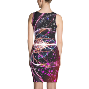 Refracted Light and Paint Spatters - All Over Printed Dress