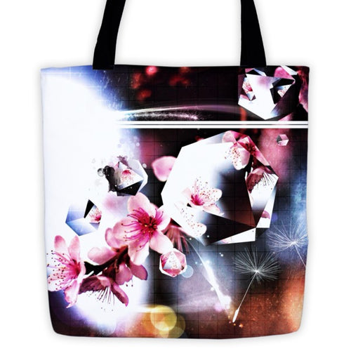 Abstract Flowers - tote bag