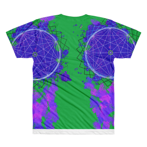 Splattered Geometry - All-Over Printed T-Shirt