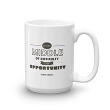 In the Middle of Difficulty Lies Opportunity - Einstein Mug
