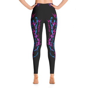 Pink and Blue Electrix - Yoga Pants
