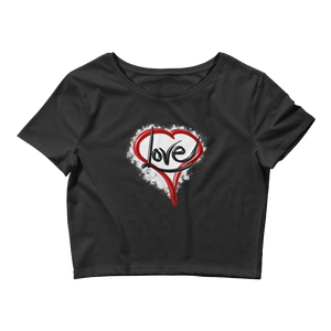Heart of Love - Women's Crop Tee