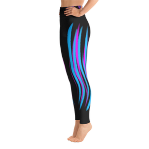 Pink and Blue Striped - Premium Yoga Pants