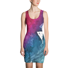 A Colorful Triangulation - All Over Printed Dress