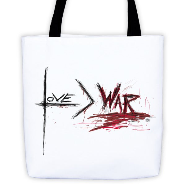 Love is Greater than War - Tote bag