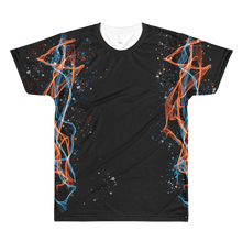 Blue and Orange Flames - All-Over Printed T-Shirt