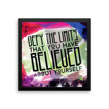 Defy Your Limits - Framed Poster