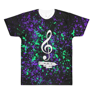 Music is Life - All-Over Printed T-Shirt