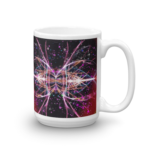 Refracted Light and Paint Spatters - Mug