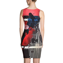 Red, White and Blues - All Over Printed Dress