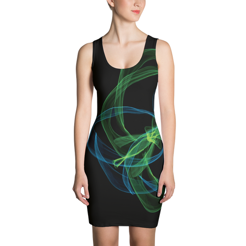 Abstract Swirls - All Over Printed Dress
