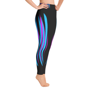 Pink and Blue Striped - Yoga Pants