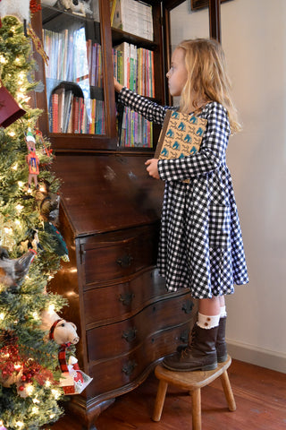 Country Christmas Gingham Dress size 2t