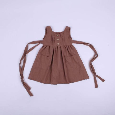 Prairie Girl Pinafore Brown